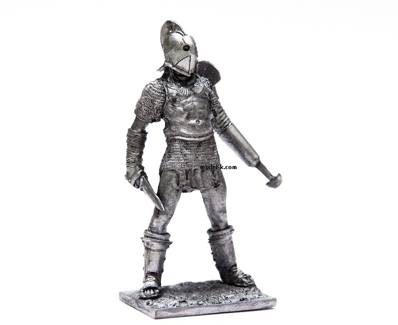 1:32 tin figure of Rome Gladiator Secutor
