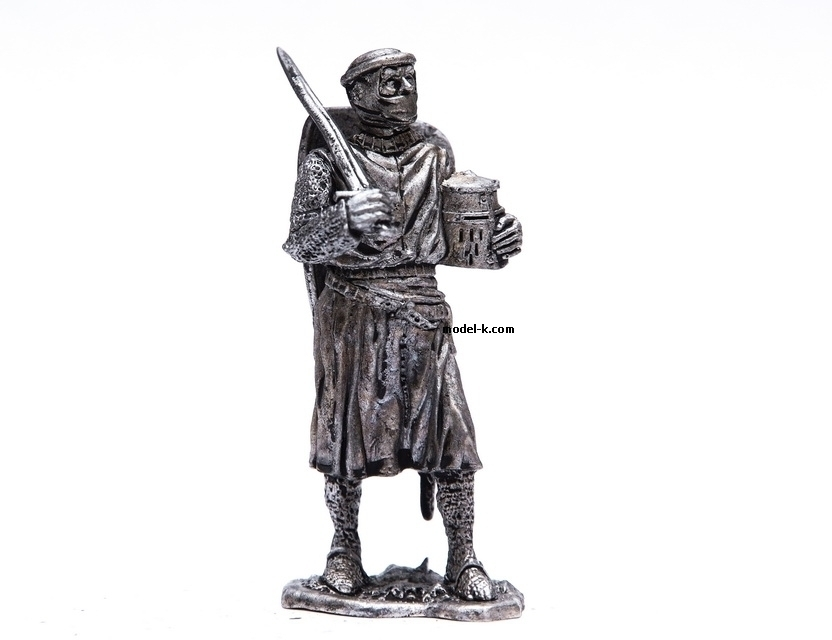 54mm tin soldier Teutonic Order Knight