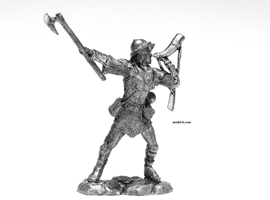 1:32 Scale Metal Miniature of Teutonic Knight 12 Century