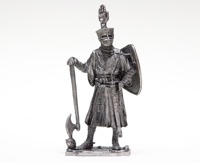 tin 54mm metal castings German Knight