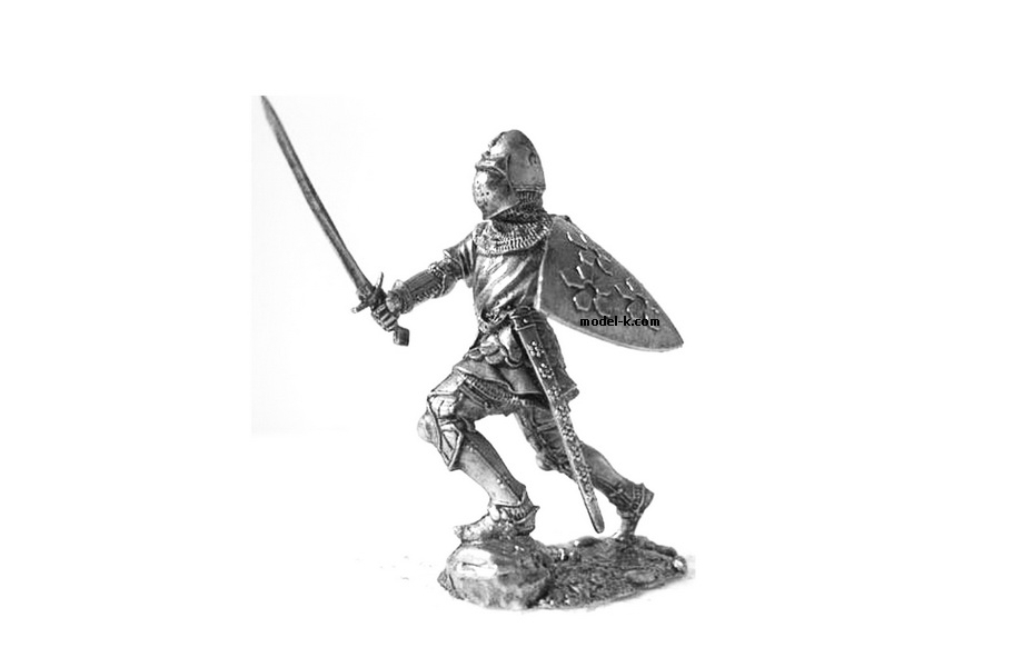 1:32 tin figure Austria. Bohemian knight. 14c. 54mm