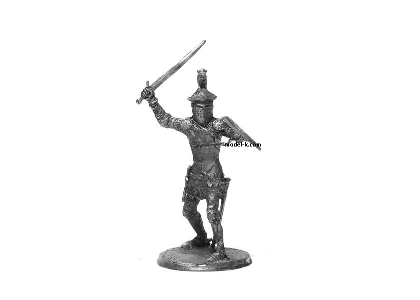 tin 54mm English Knight. Metal Castings Earl of Oxford