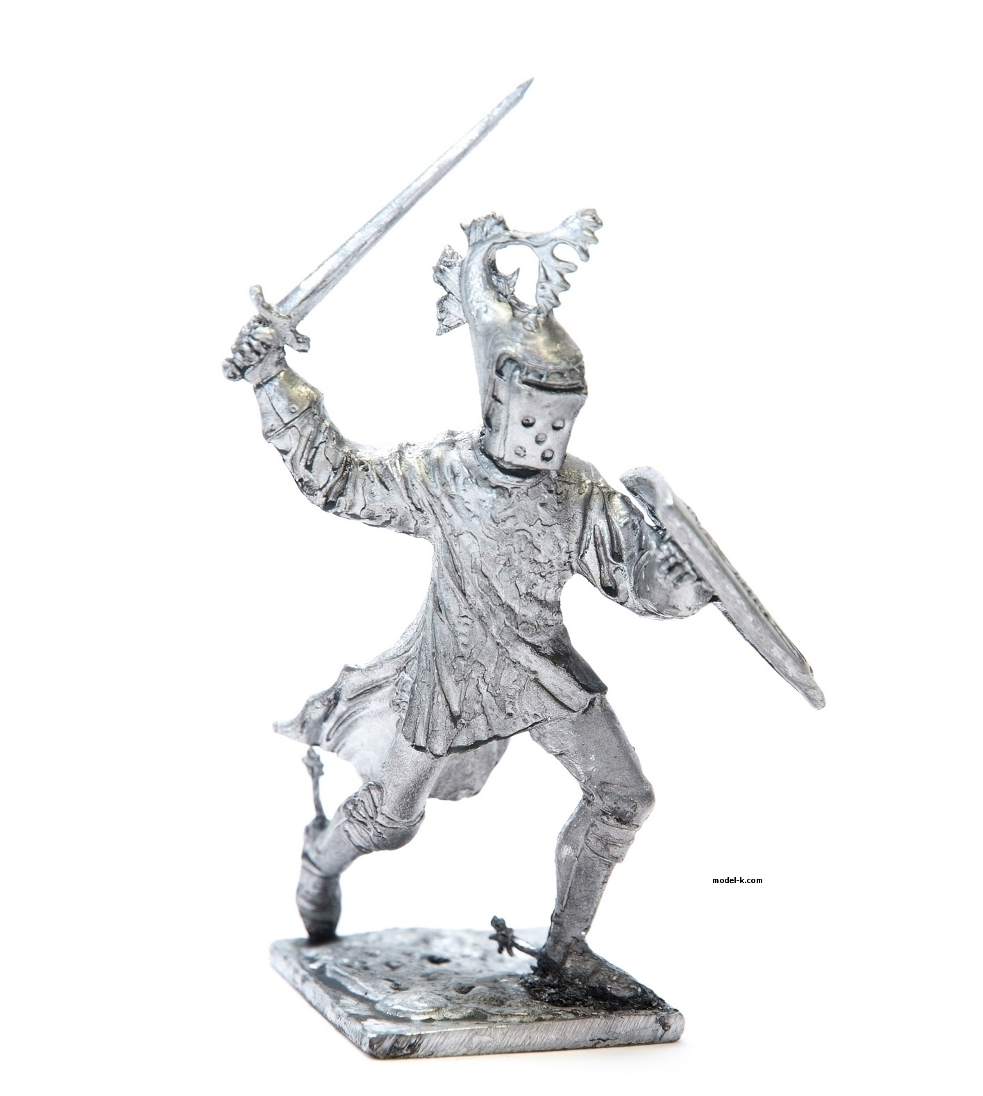 Burgundian knight metal figurine 54mm