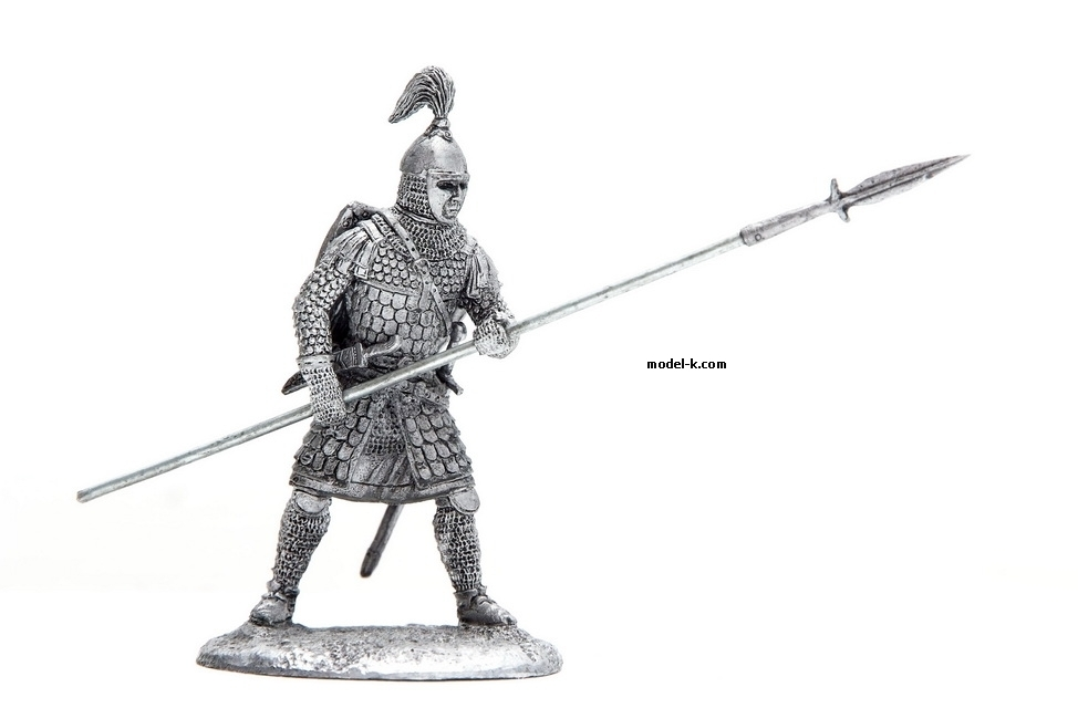1:32 tin figure of Russian warrior