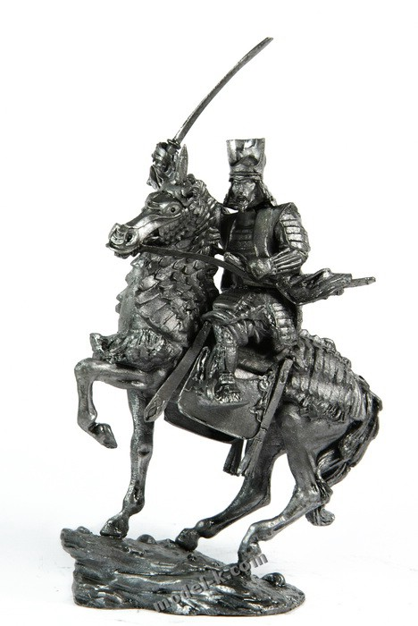 Samurai with naginata 54mm tin figures