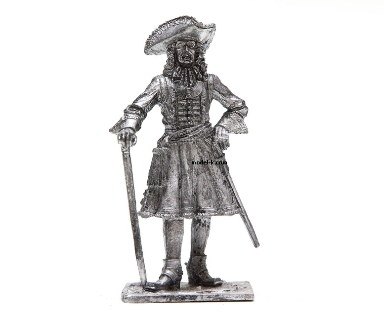 Metal Figurine of the The staff officer tin 54mm figure