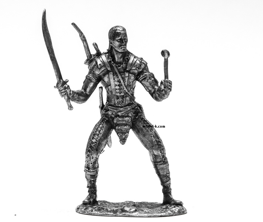 1:32 Scale Metal Miniature of Metal Figurine Russian Warrior