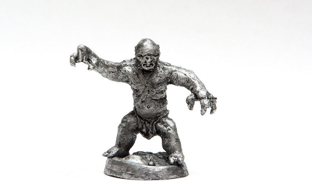35mm, Orc, tin, figure, metal sculpture, white metal castings